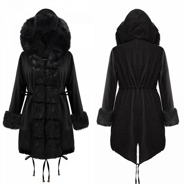Winter Faux Fur-trimmed Long-length Overcoat_10