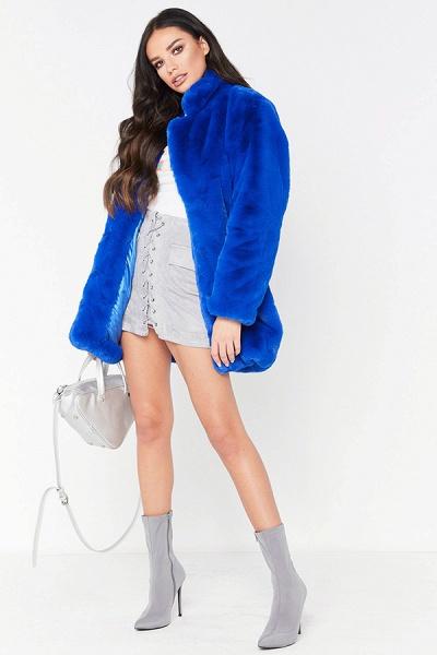 Winter Daily Regular Stand Long Faux Fur Coats_28