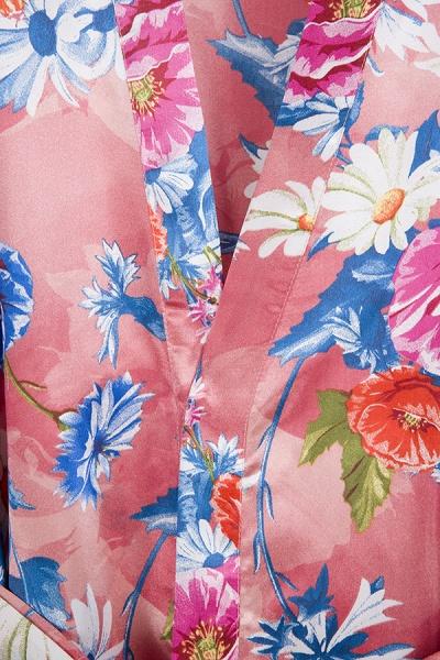 Short Sleeve Floral Print Bridesmaid Bridal Robes_11