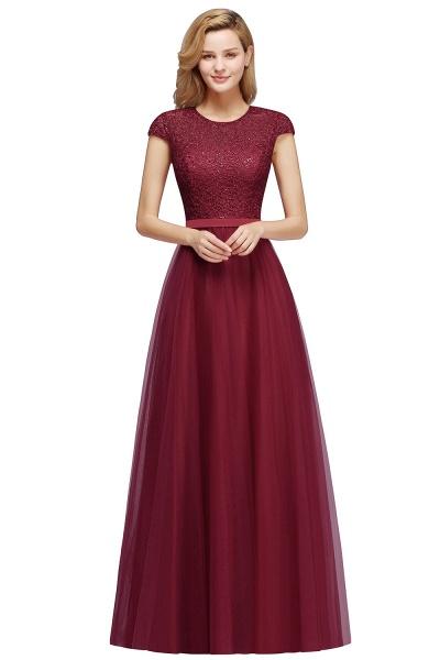 Graceful Jewel Tulle A-line Evening Dress_2