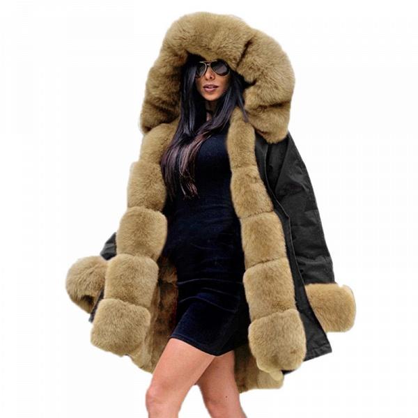 Winter Faux Fur-trimmed Long-length Overcoat_40