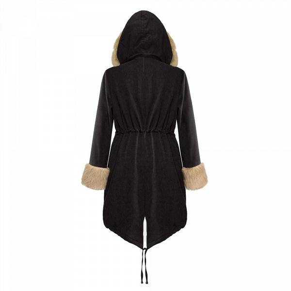 Winter Faux Fur-trimmed Long-length Overcoat_20