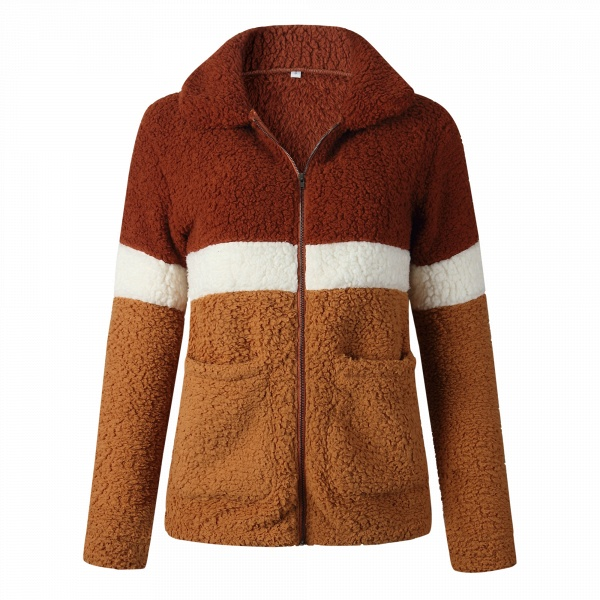 Daily Street Fashion Basic Two Toned Fur Coats_3