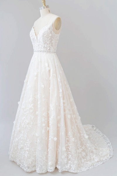 Awesome Appliques A-line Tulle Wedding Dress_4