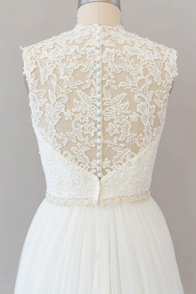Amazing Beading Lace Tulle A-line Wedding Dress_7