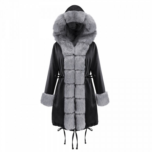 Winter Faux Fur-trimmed Long-length Overcoat_31