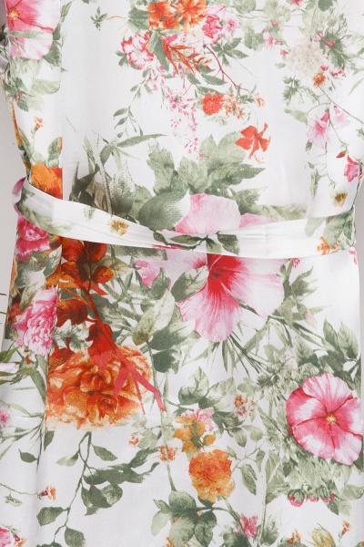 Short Sleeve Floral Print Bridesmaid Bridal Robes_5