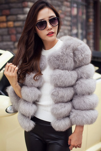 Women's Daily Party Long Faux Fur Coats_36