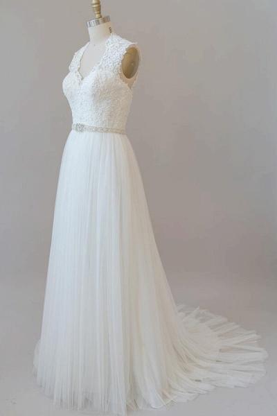Amazing Beading Lace Tulle A-line Wedding Dress_5