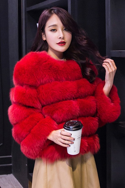 Women's Daily Party Long Faux Fur Coats_25