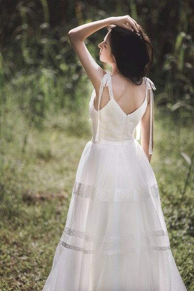 Eye-catching Lace Tulle A-line Wedding Dress_3