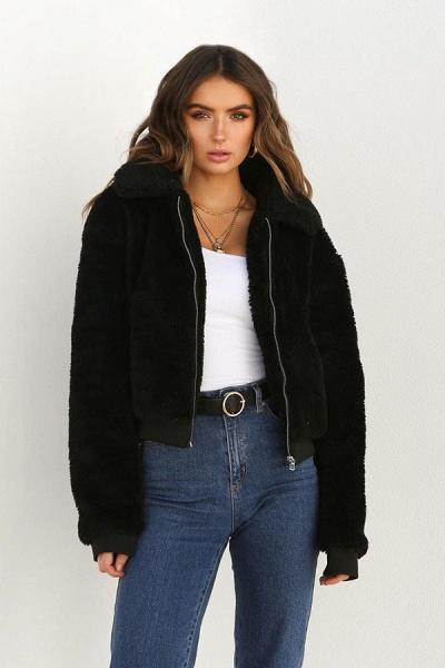 Daily Basic Fashion Winter Regular Faux Fur Coats_12