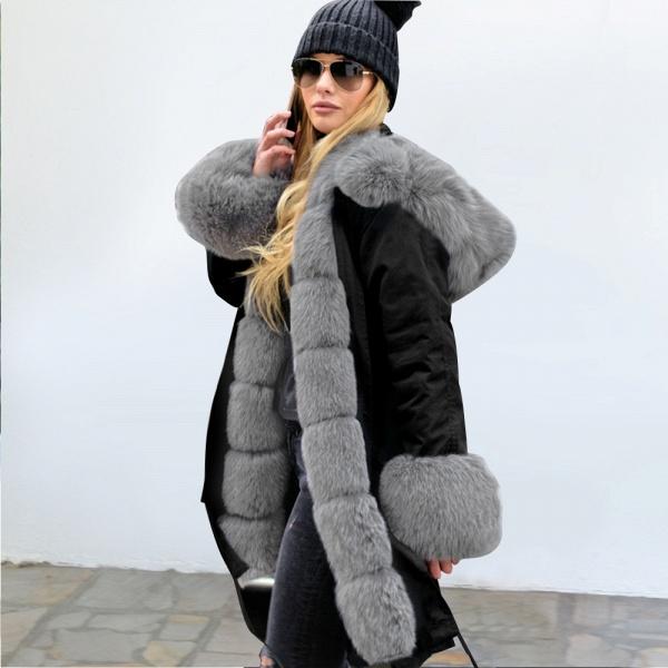 Winter Faux Fur-trimmed Long-length Overcoat_38