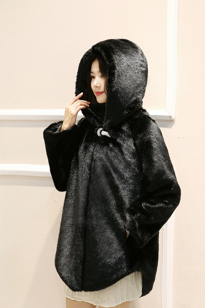 Hooded Daily Basic Club Faux Fur Coat_5