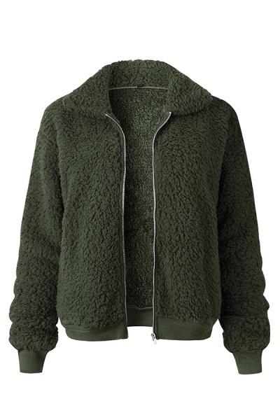 Daily Basic Fashion Winter Regular Faux Fur Coats_4