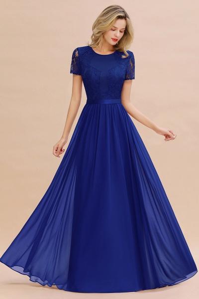 BM0831 Chiffon Lace Scoop Short Sleeve Bridesmaid Dress_26