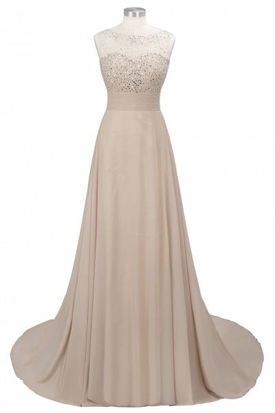 Beautiful Jewel Chiffon A-line Evening Dress_10