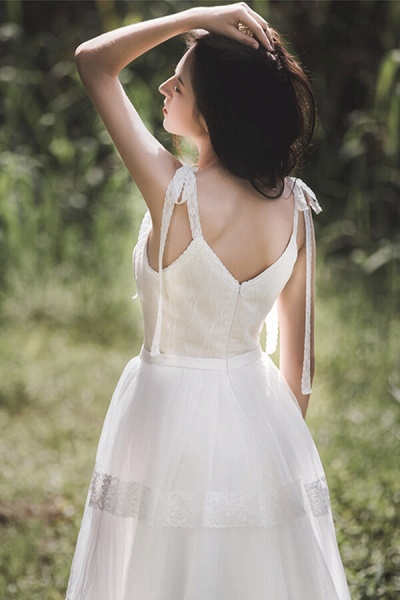 Eye-catching Lace Tulle A-line Wedding Dress_7