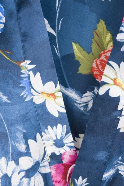 Short Sleeve Floral Print Bridesmaid Bridal Robes_21