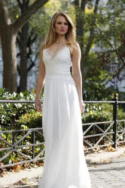 Latest Elegant Lace Chiffon A-line Wedding Dress_3
