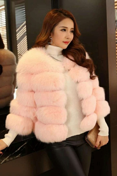 Women's Daily Party Long Faux Fur Coats_14
