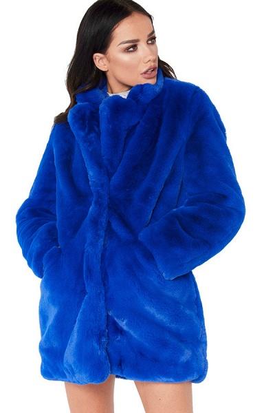 Winter Daily Regular Stand Long Faux Fur Coats_30