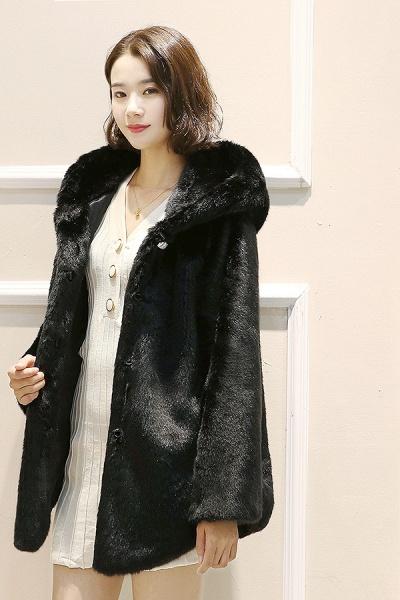 Hooded Daily Basic Club Faux Fur Coat_7