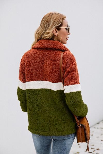 Daily Street Fashion Basic Two Toned Fur Coats_16