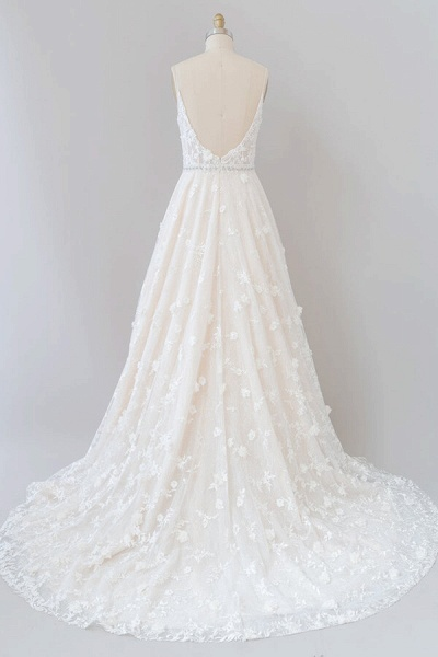 Awesome Appliques A-line Tulle Wedding Dress_3