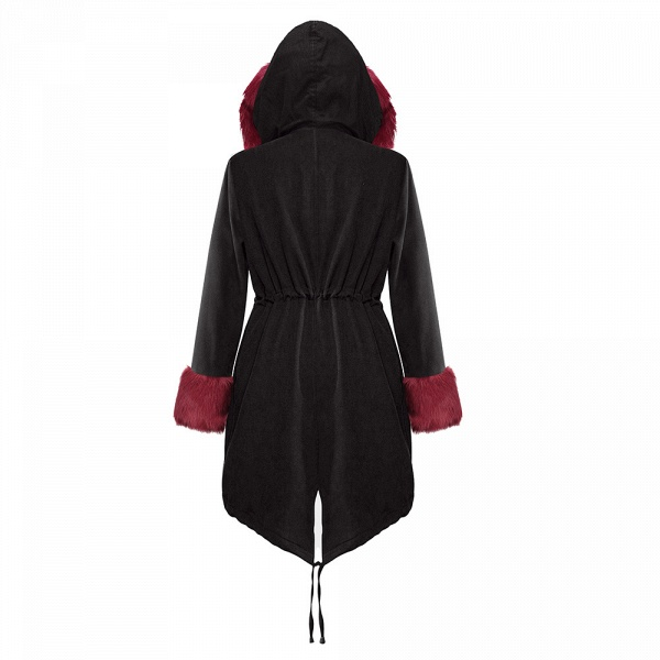 Winter Faux Fur-trimmed Long-length Overcoat_16