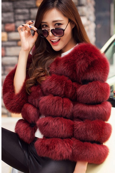 Women's Daily Party Long Faux Fur Coats_5