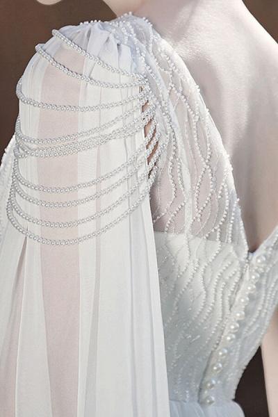 Eye-catching Beading Chiffon A-line Wedding Dress_12