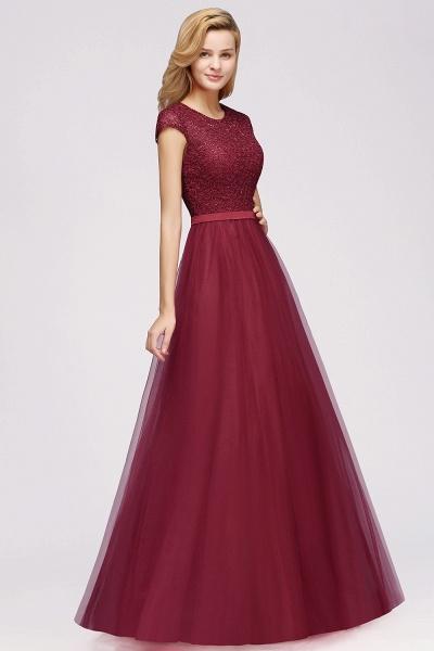 Graceful Jewel Tulle A-line Evening Dress_8