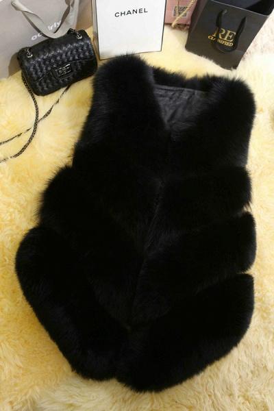Women's Daily Basic Winter Regular Faux Fur Coats_4