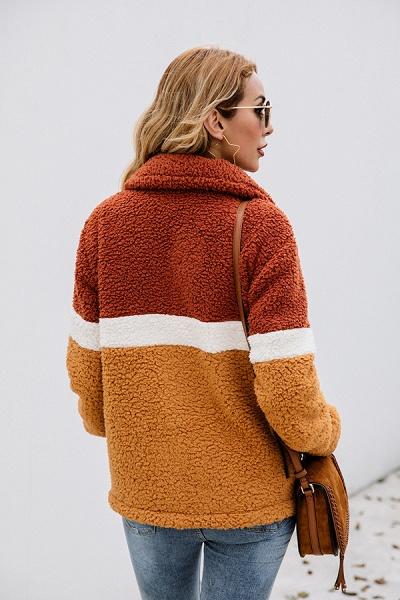 Daily Street Fashion Basic Two Toned Fur Coats_7