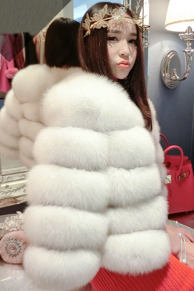Women's Daily Party Long Faux Fur Coats_1