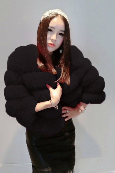 Women's Daily Party Long Faux Fur Coats_8