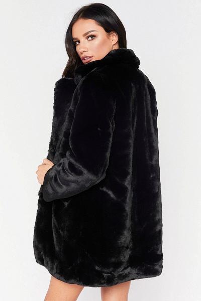 Winter Daily Regular Stand Long Faux Fur Coats_19