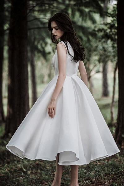 Graceful Satin A-line Wedding Dress_4