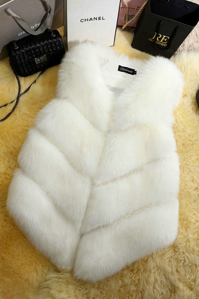 Women's Daily Basic Winter Regular Faux Fur Coats_2
