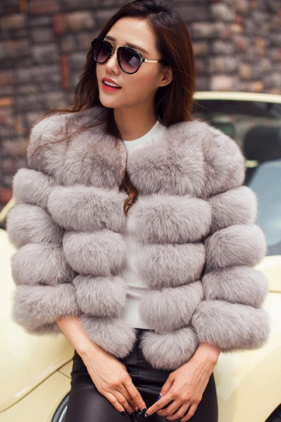 Women's Daily Party Long Faux Fur Coats_43