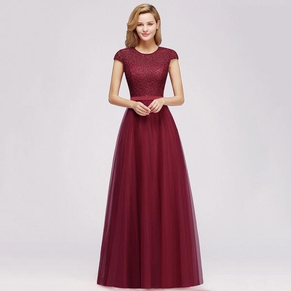 Graceful Jewel Tulle A-line Evening Dress_9