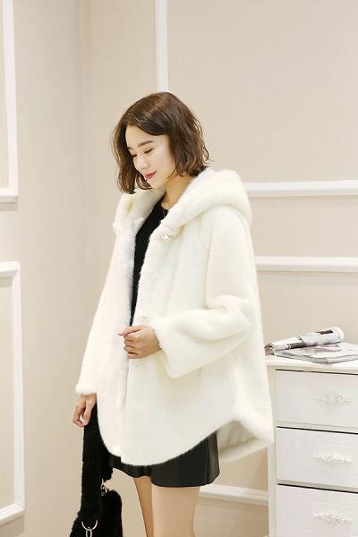 Hooded Daily Basic Club Faux Fur Coat_11