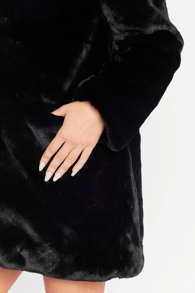 Winter Daily Regular Stand Long Faux Fur Coats_18
