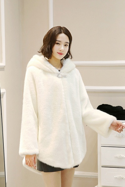 Hooded Daily Basic Club Faux Fur Coat_9