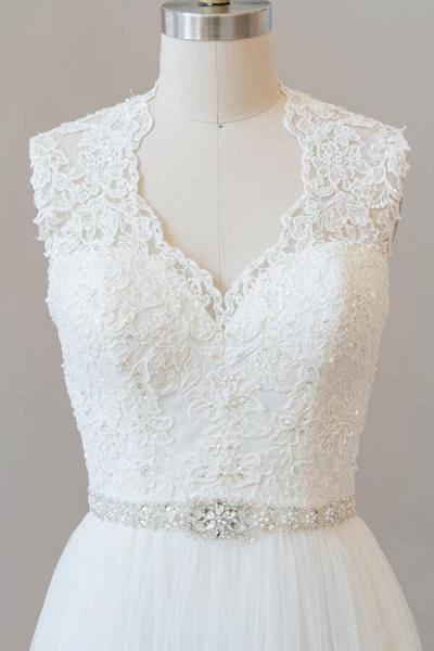 Amazing Beading Lace Tulle A-line Wedding Dress_6