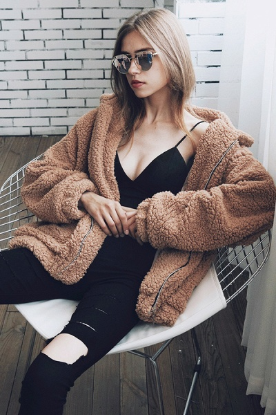 Winter Fashion Going out Basic Regular Faux Fur Coat_20