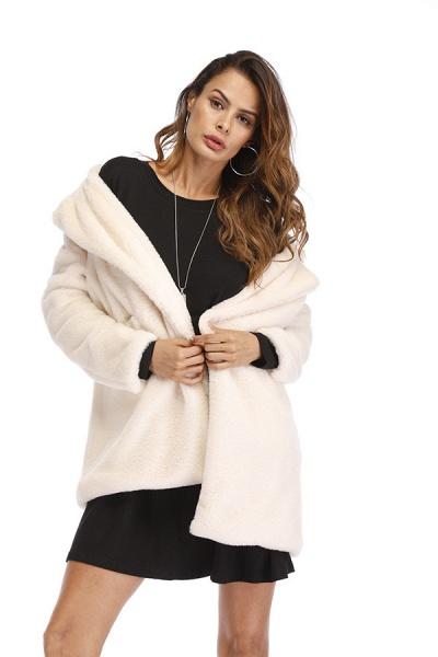Winter Daily Regular Stand Long Faux Fur Coats_37