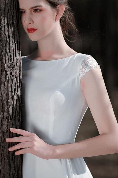 Chic Cap Sleeve Lace Chiffon A-line Wedding Dress_10