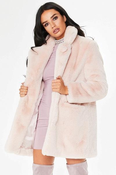 Winter Daily Regular Stand Long Faux Fur Coats_54